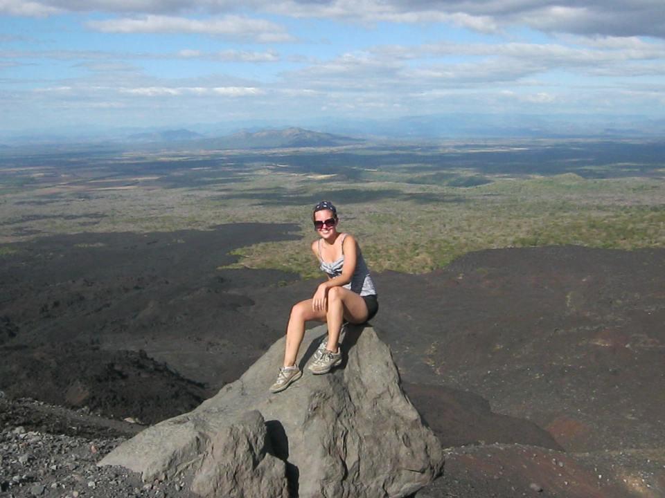 Mascha am Cerro Negro