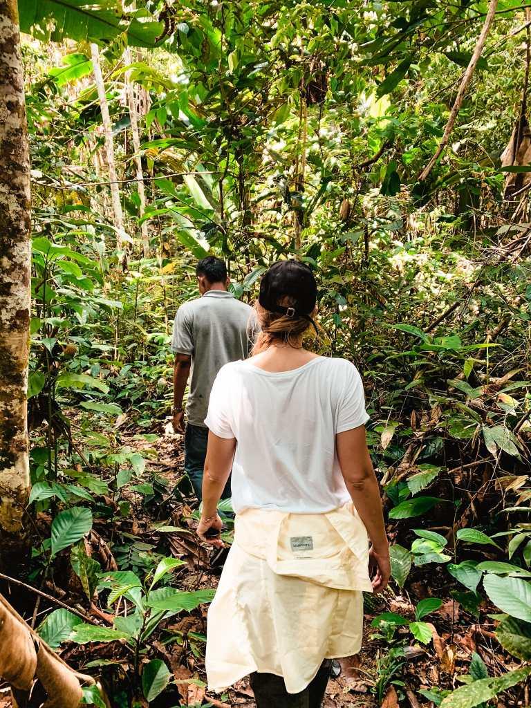 Mascha auf der Amazonas Wanderung