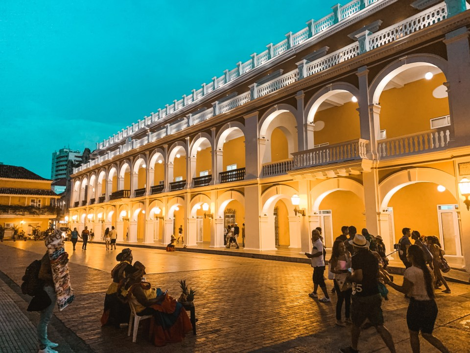 Plaza de Bolivar in Cartagena Kolumbien