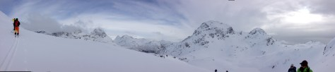 Panorama - all above treeline - just 100 meters off the sea