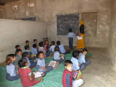 Indian classroom has limited amenities