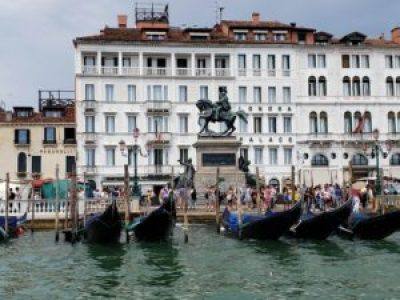 Canals are filled with gondolas in Venice