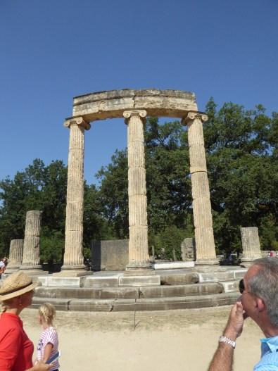 The Philippeion in Olympia, Greece, is beautiful
