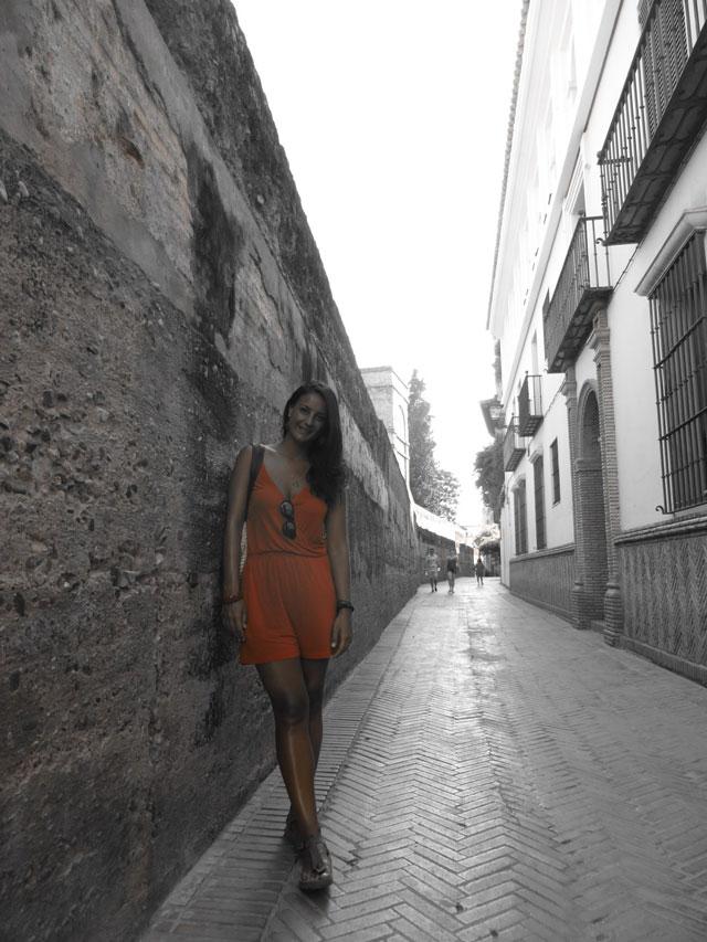 Calle Agua nel Barrio de Santa Cruz