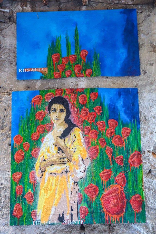 santa rosalia palermo street art