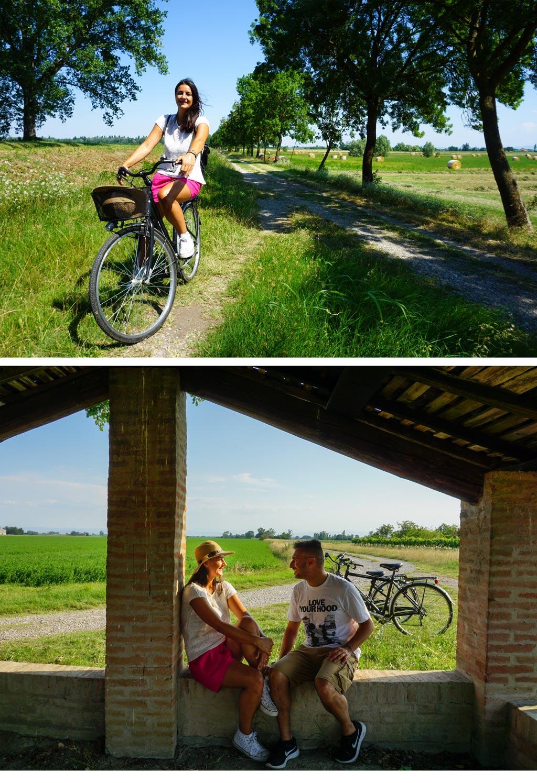 partecipanza di nonantola in bicicletta
