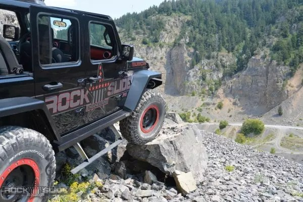 Rock Slide Engineering Step Slider Set For Jeep Wrangler JL 4 door