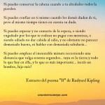 Rudyard Kipling: Si, if – Un poema inspirador