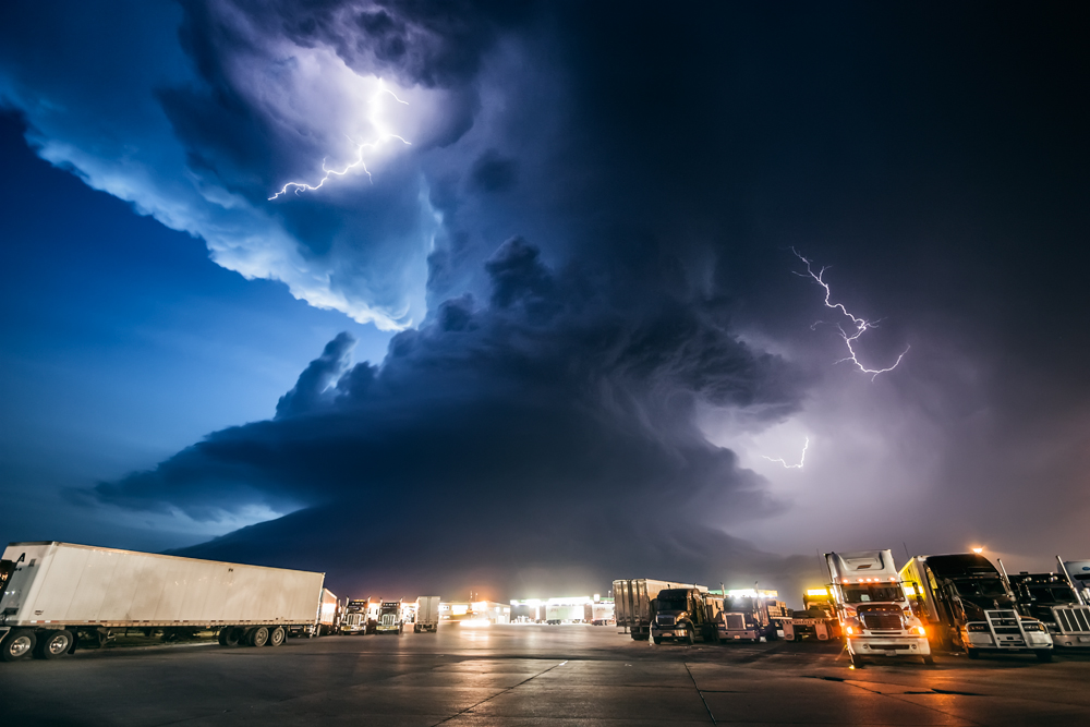 Truck Stop and Twilight Supercell
