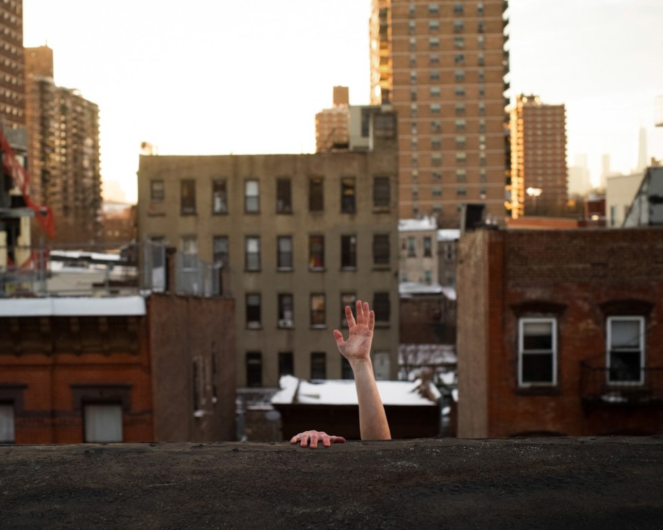 Climbed up on my roof in Brooklyn to take some pictures.