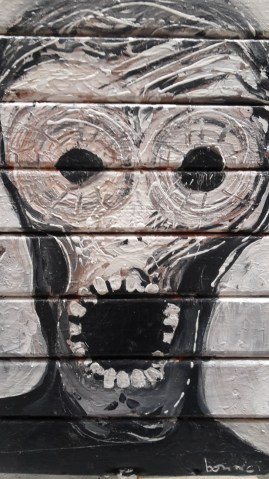 """Mural - interpretacja """"Krzyku"""" Muncha"""