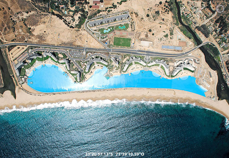 Largest Pool In Chile >> World S Largest Swimming Pool San Alfonso Del Mar Unusual