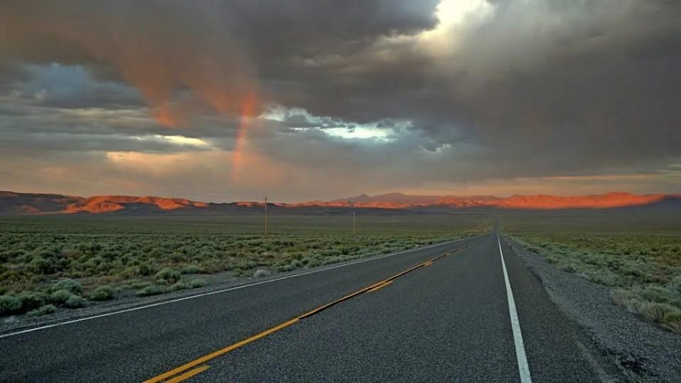 U.S. Route 50 looking toward Hickison Summit. Image by Jonathan Berman
