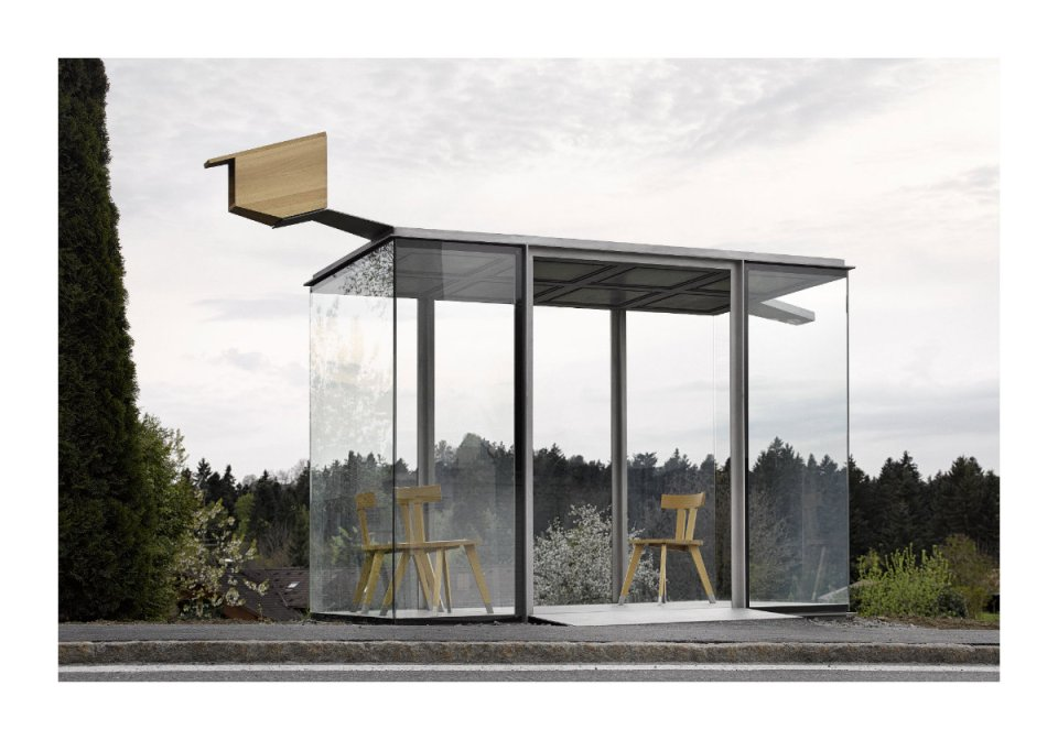 "Smiljan Radic, Chile: ""Urban exteriors seem to be the natural extension of small, protected interior spaces. Zwing BUS:STOP seeks to express this domesticity."" (Photo: Adolf Bereuter/BUS:STOP Krumbach)"
