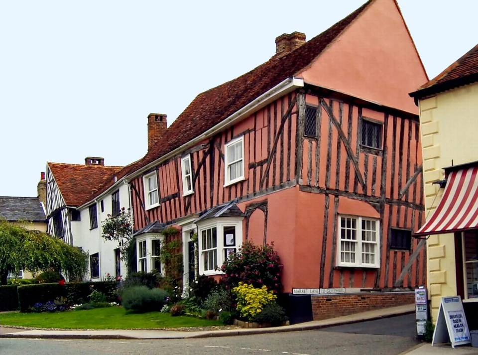 Lavenham - not a straight wall in sight!  Image by  Rosalynhilborne/Flickr