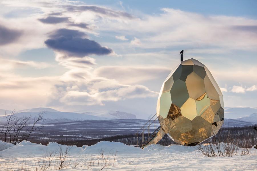 Solar Egg Sauna, places in sweden