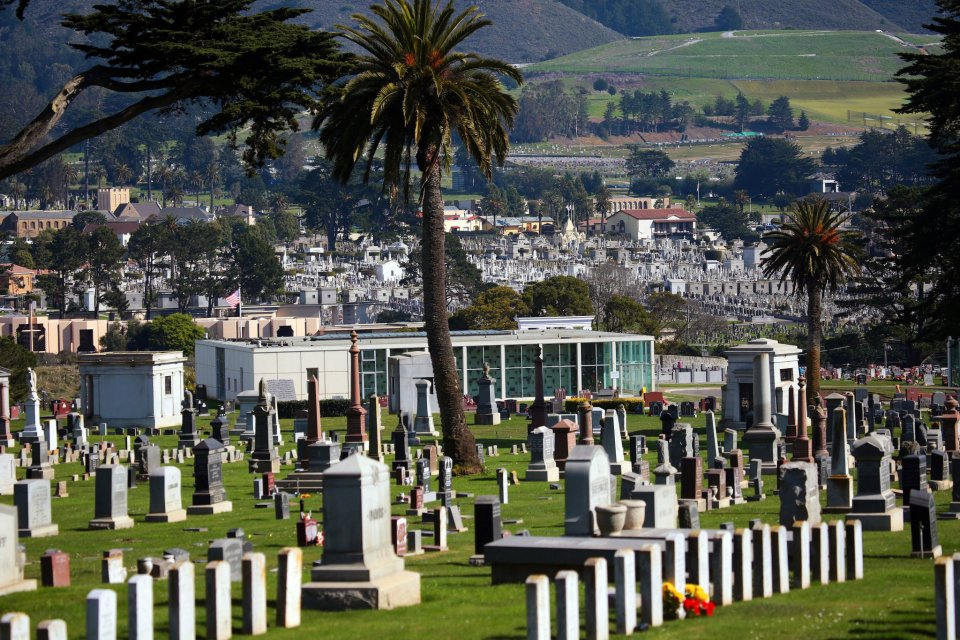 Colma, a small town outside San Francisco, has become a necropolis for the city, which relocated the remains from four of its cemeteries there.