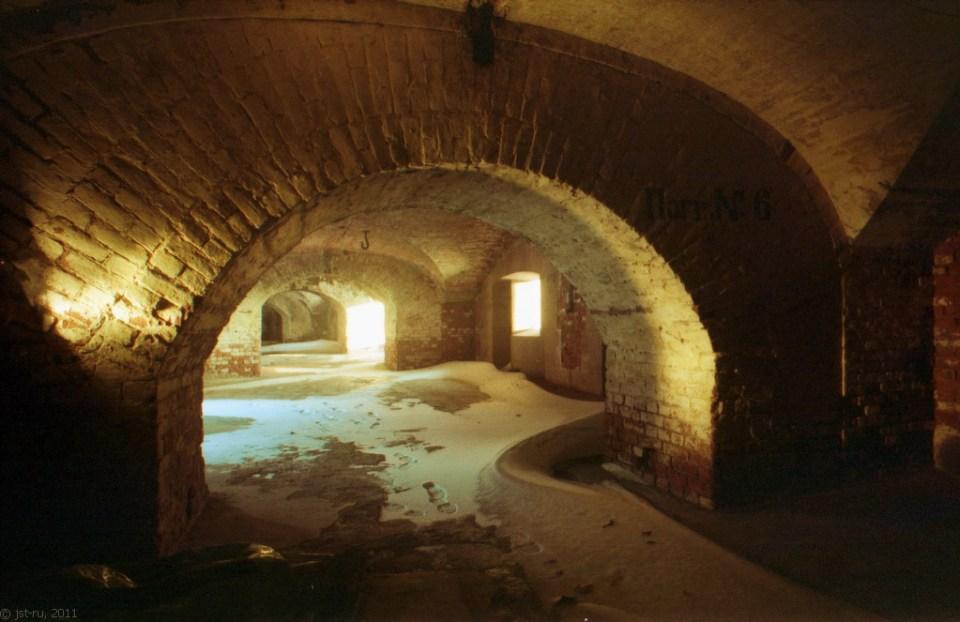 Inside Fort Alexander