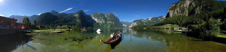 Boat in the lake near Hallstatt, Austria