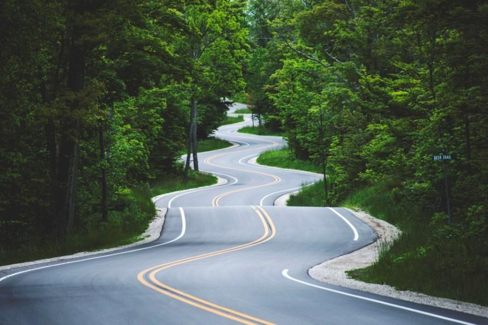 Road to Washington Island, Wisconsin