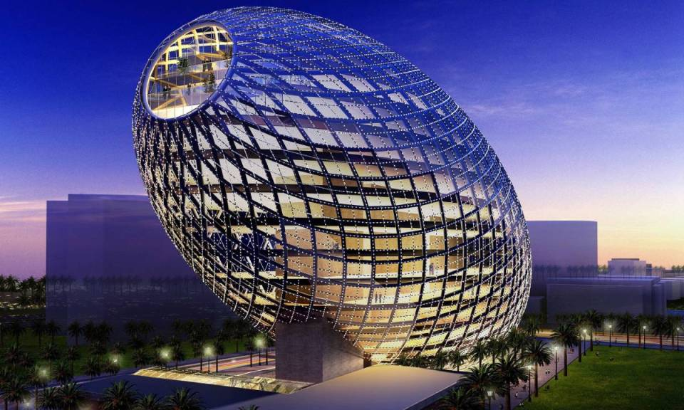 Cybertecture Egg Office Building, India