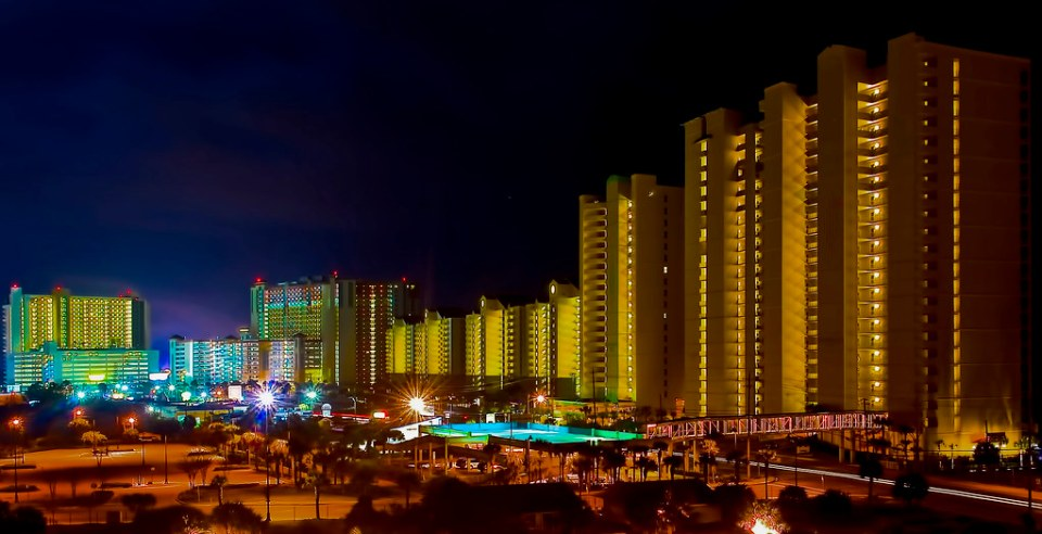 The skyline of Panama City Beach, Florida