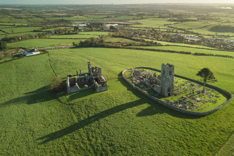 Hill of Slane aerial view