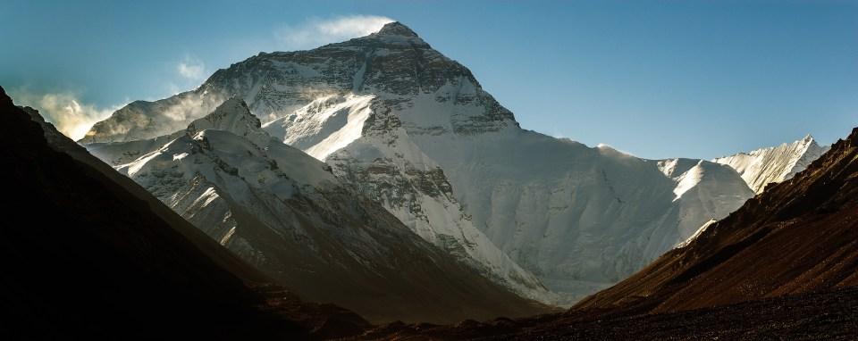 Everest from near Rongbuk Monastery in Tibet