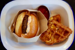 But what if the waffle was the bun?!