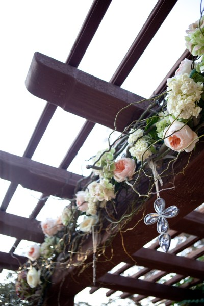 Ceremony flowers and crosses