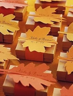 Fall favors with leaf
