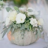 pumpkin vase with flowers