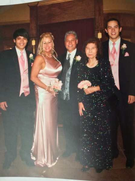 Donna, Wes, his boys and her mom