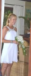 Destination wedding bride in Fiji