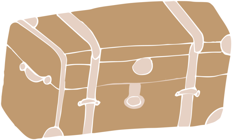 brown trunk drawing