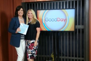 Lisa with Marianne McClary of GoodDay debuting Unveiled Wisdom