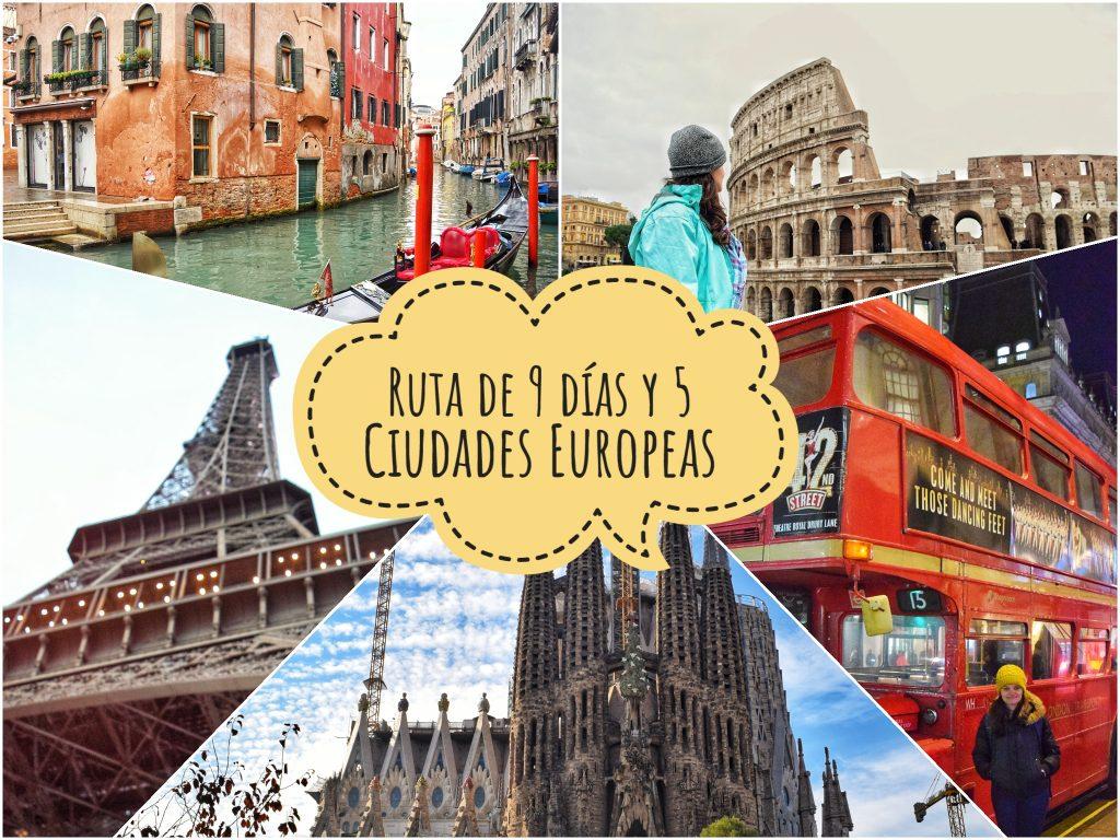 Resumen de nuestra ruta por Europa: 4 países y 5 ciudades en 9 días
