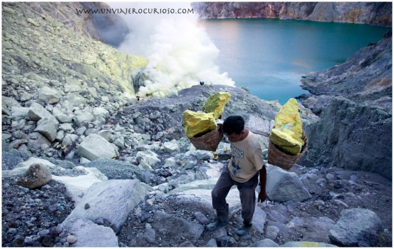 Volcan Kawah Ijen, java, Indonesia