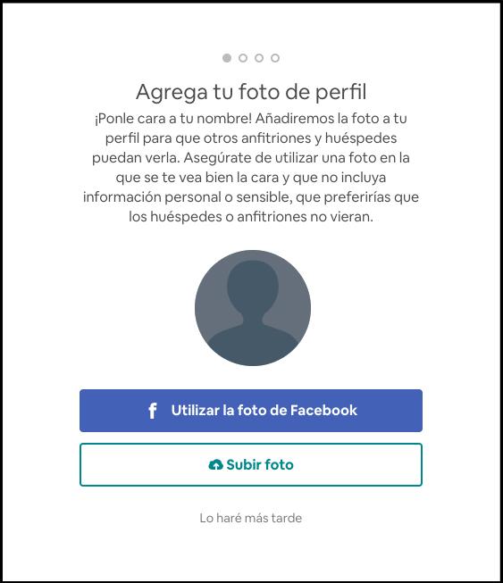 Sube foto de perfil, registro de airbnb, descuento 34€.