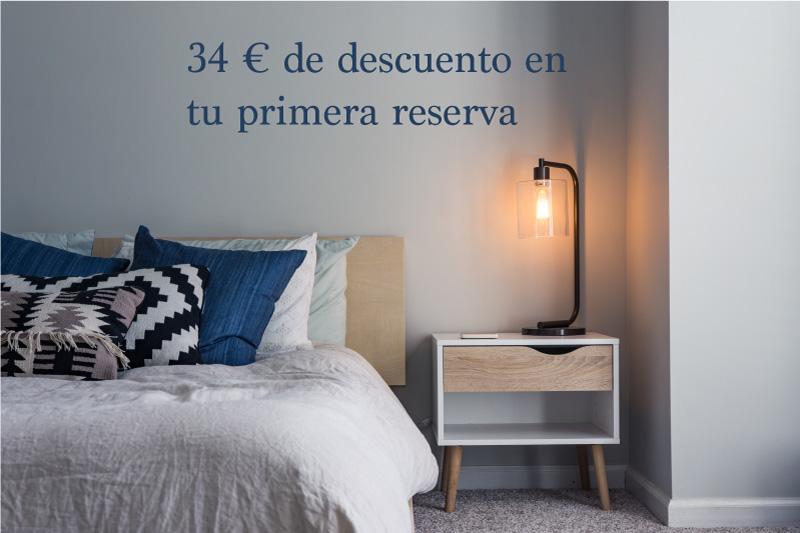 Descuento en airbnb, alojamiento barato.