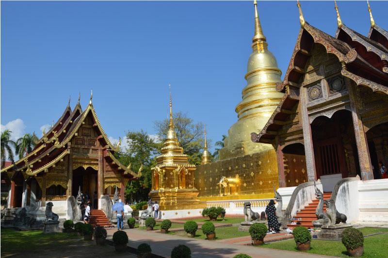 Wat Phra Singh, Chiang Mai, templo principal.