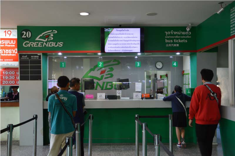 Oficinas de Greenbus, ir de Chiang Mai a Chiang Rai.
