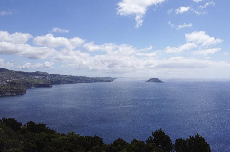 Mirador del monte do brasil en terceira, islas azores.