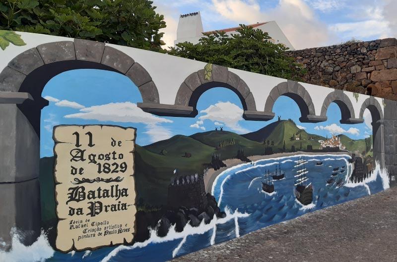 Mural en Praia da Vitoria, Terceira