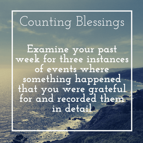 positive psychology intervention: counting blessings