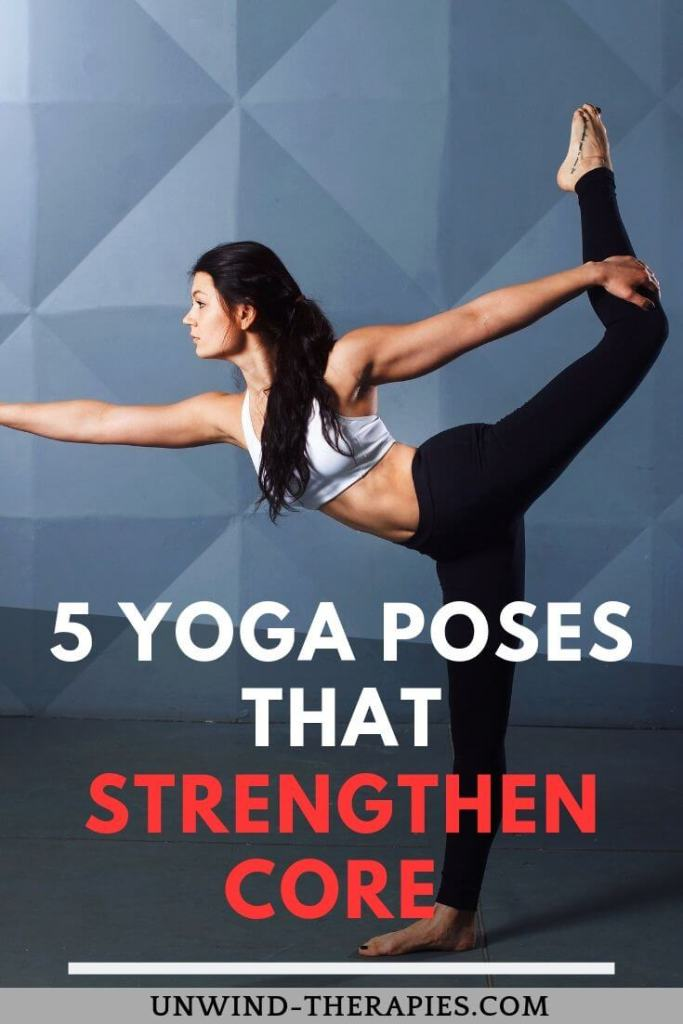 Build strength through the belly, side waist, glutes and back with 5 doable core yoga poses.