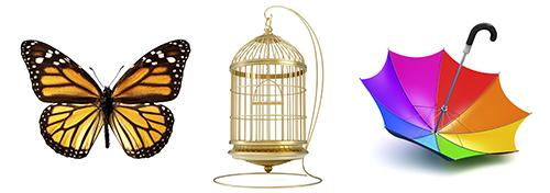 13 символов Иллюминатов и их значения. The-Monarch-Mind-Control-Symbols-The-Umbrella-Rainbow-Birdcage-and-Butterfly