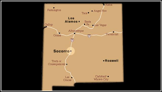 Карта местности с места посадки НЛО