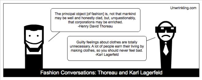 thoreau on fashion - karl Lagerfeld
