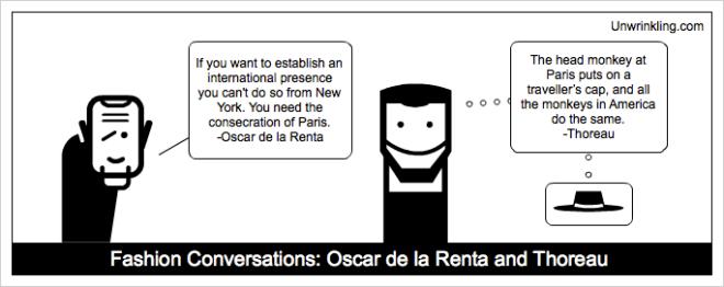 thoreau on fashion - Oscar de la Renta